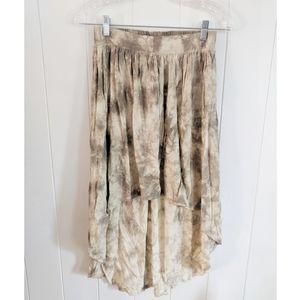 COTTON ON xs tie dye high-low skirt flowy